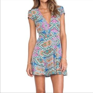 Lovers + Friends Cassidy Dress In Mosaic Print